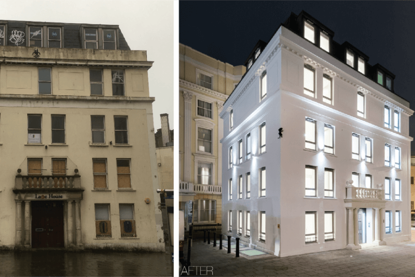 NEWS – Before and After – Lace House
