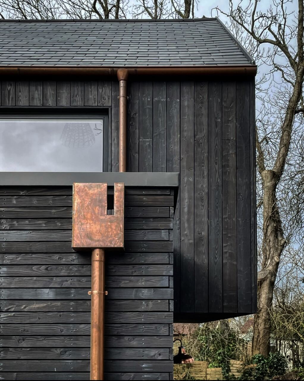 black timber, house, architecture, sussex, uk, hapa